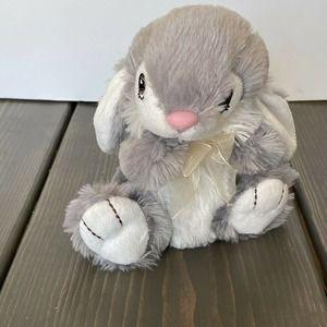 Dan Dee Collectors Choice Bunny Rabbit Gray White